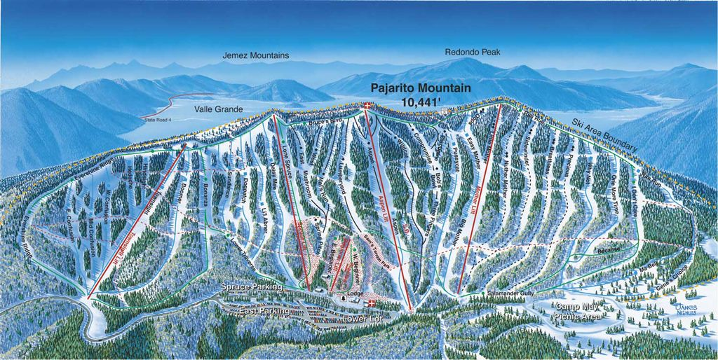 Ski In New Mexico Map.New Mexico Ski Resorts Map If We Choose To Go Back To Nm New