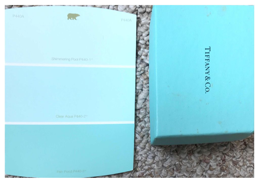 I Think Fish Pond P440 3 Is The Closest Behr Paint Color To Tiffany Blue Lightest Shimmering Pool 1 And One In Middle
