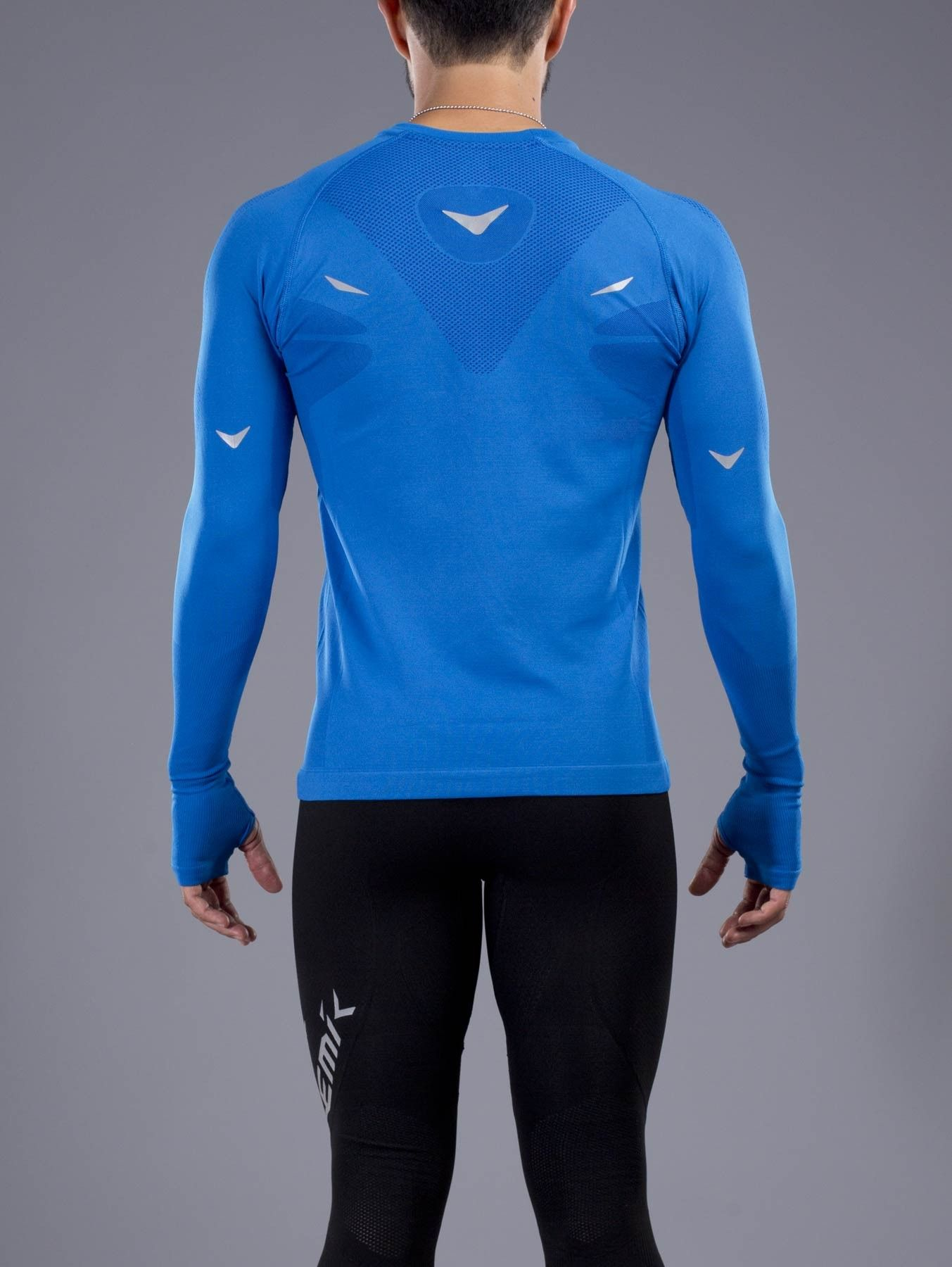 eff9b53a1bb PLAYERA DEPORTIVA MANGA LARGA CABALLERO Nemik #longsleeve #tshirt #blue  #Nemik
