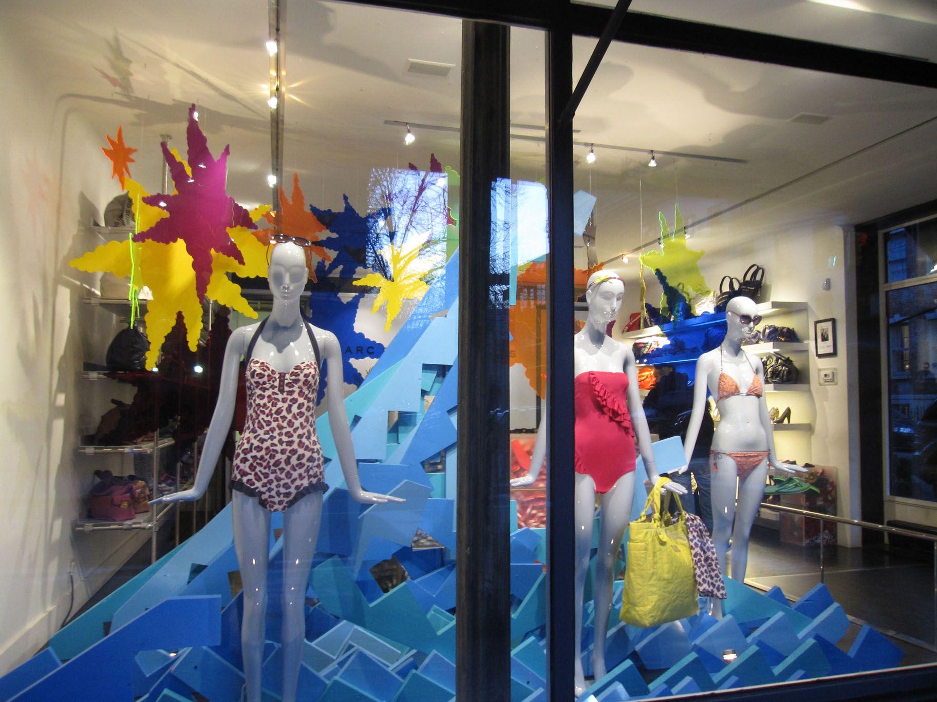 Vcg colourlink inspiration window display visual merchandising summer 2015 ibiza beach holiday summer
