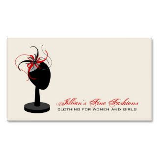 Fascinator hat stand clothing store boutique business card fascinator hat stand clothing store boutique business cards by jills paperie reheart Gallery