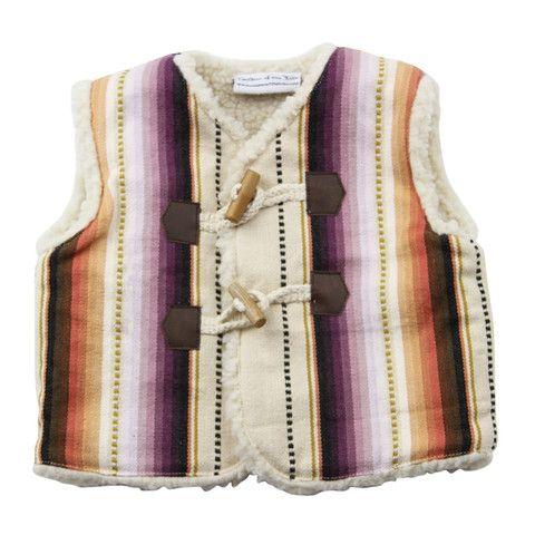 Hipkin - Children of the Tribe Little Mountain Vest - size 1 - 2 left over zwart jurkje f