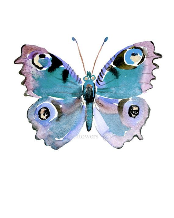 d10bbaa7c62 Children s Art Watercolor Butterfly Blue Size by Coconuttowers