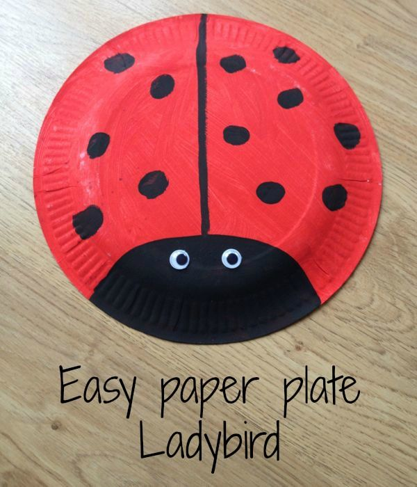 How to make a simple paper plate ladybird | Paper plate crafts for ...