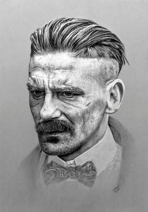 Drawing A4 Print Shelby Portrait Art Peaky Blinders Alfie