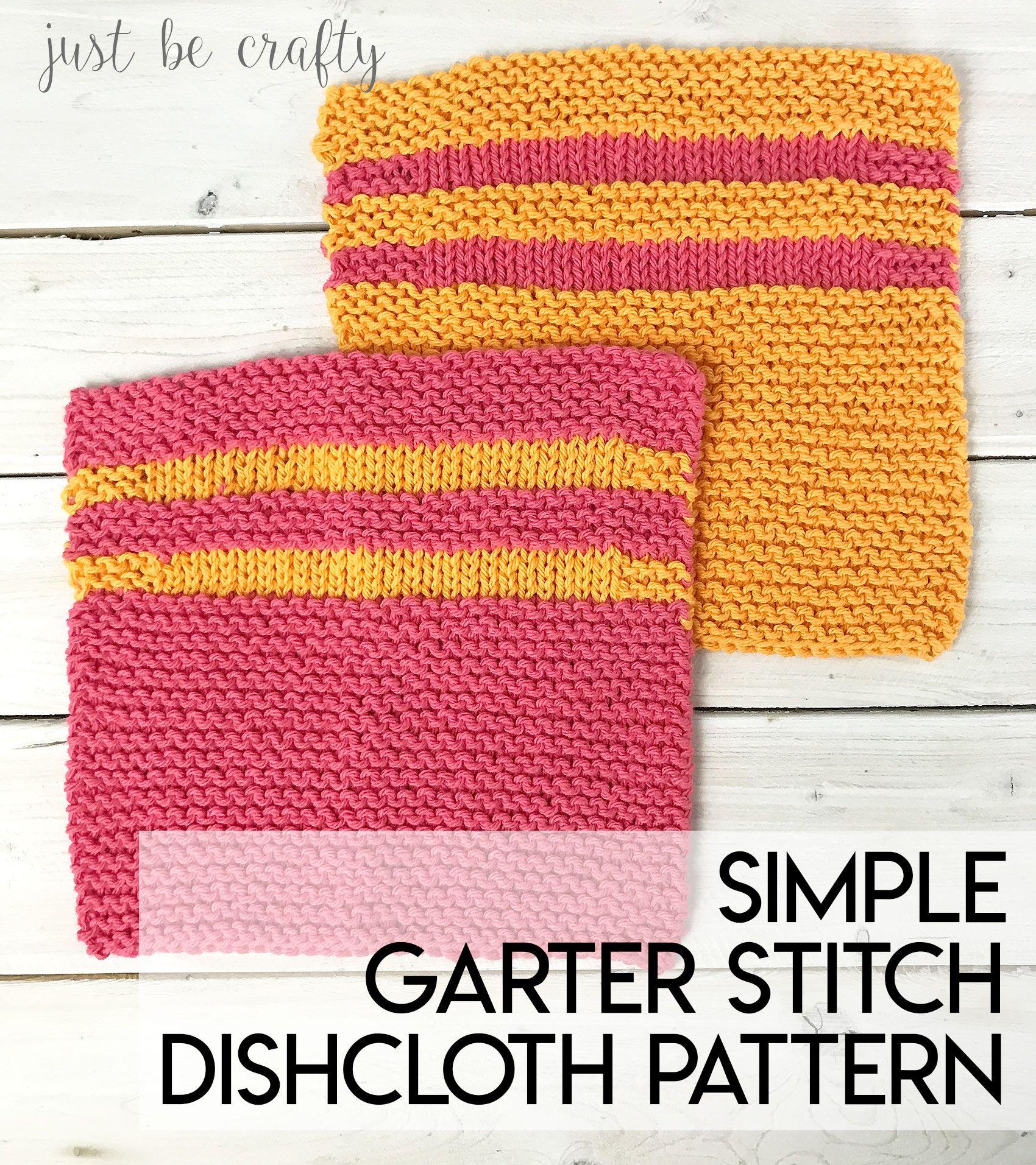 Simple Garter Stitch Dishcloth Pattern - Free Pattern by | Free ...
