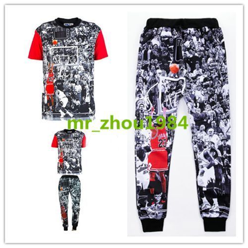 2015 men/women's joggers tee 3D print Jordan basketball star tops pants outfits #Unbranded #Vests