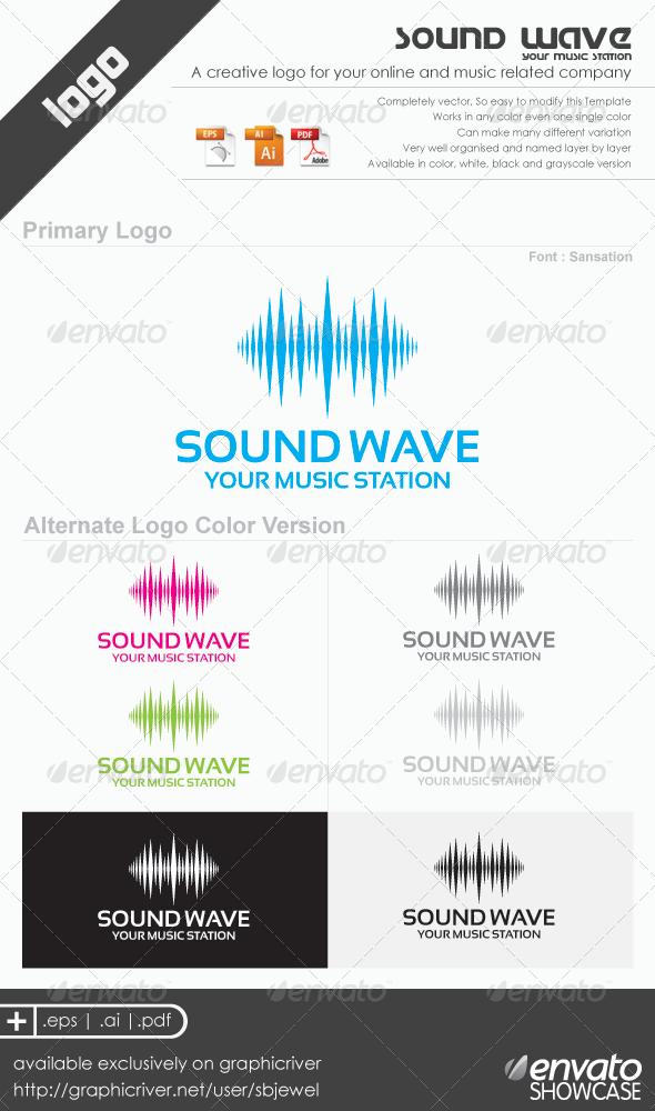 Wave Sound Logo Sound Logo Music Logo Design Dance Logo