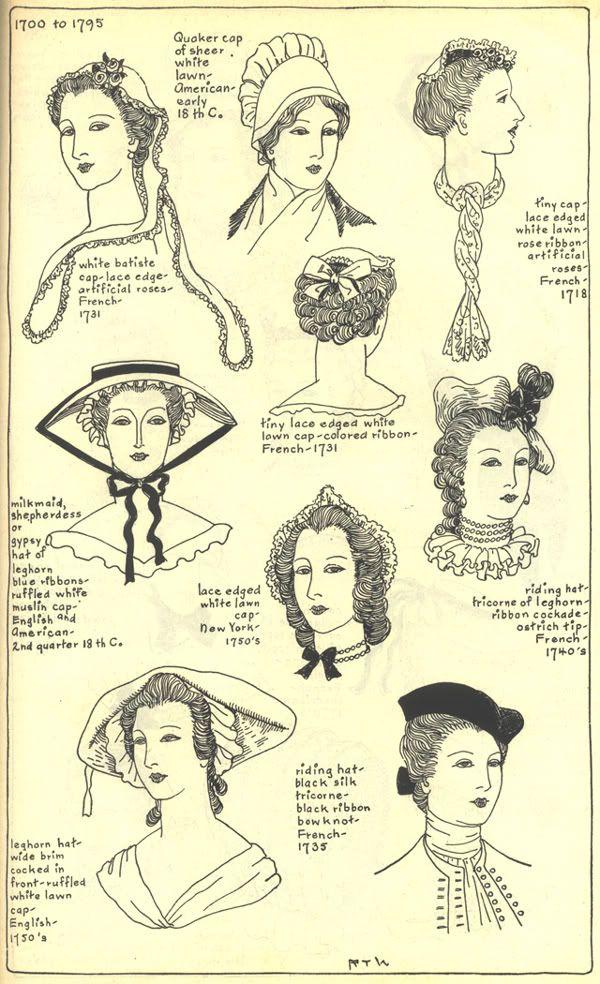 18thcenturyhatswomens1718 1750 Jpg Photo By Idzit Photobucket Historical Hats 18th Century Fashion Historical Costume
