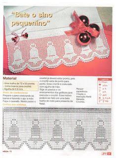 MIRIA CROCHÊS E PINTURAS: BARRADOS DE CROCHÊ COM MOTIVOS DE NATAL