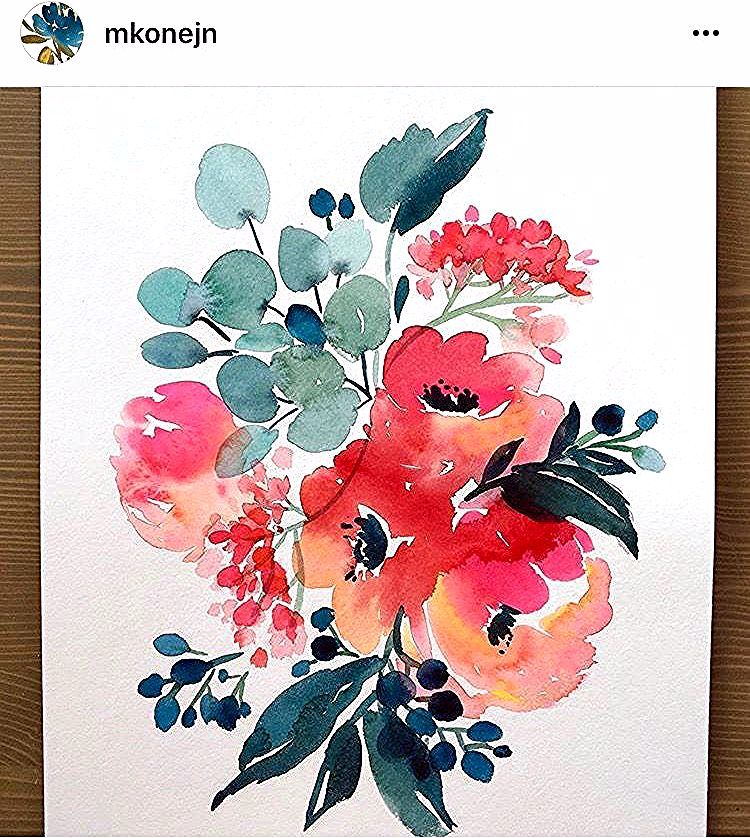 Pin By Pascale Potvin On 장미 Watercolor Flowers Paintings Floral Watercolor Watercolor Paintings For Beginners