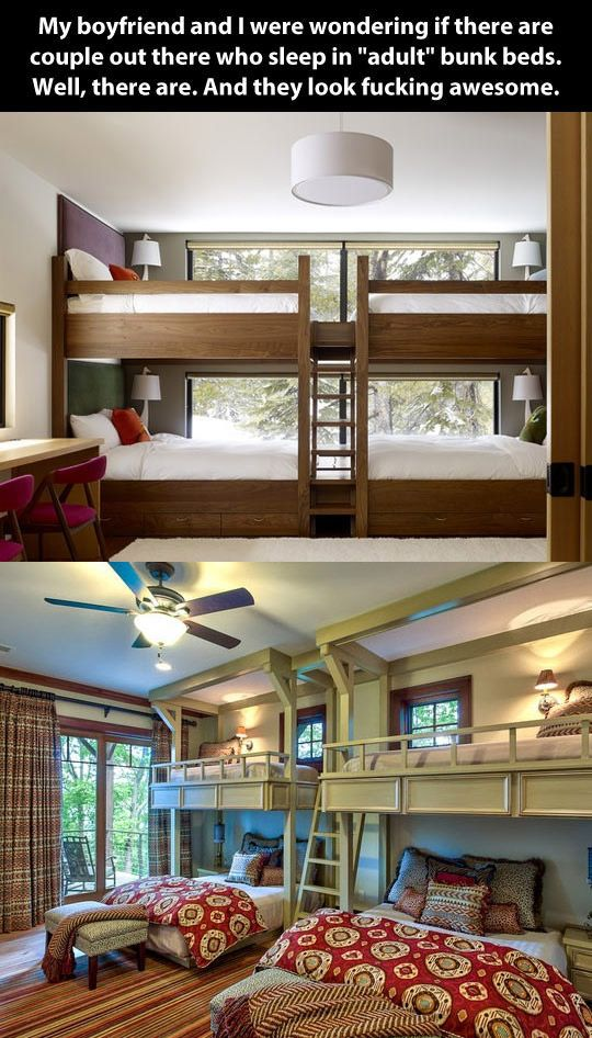 Adultsized bunk beds. Queen size bunk beds, Adult bunk