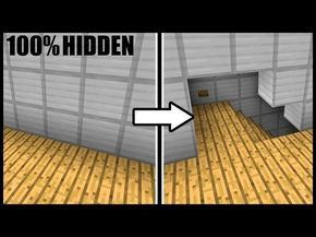Fully Hidden OPENING WALL & STAIRCASE! Minecraft