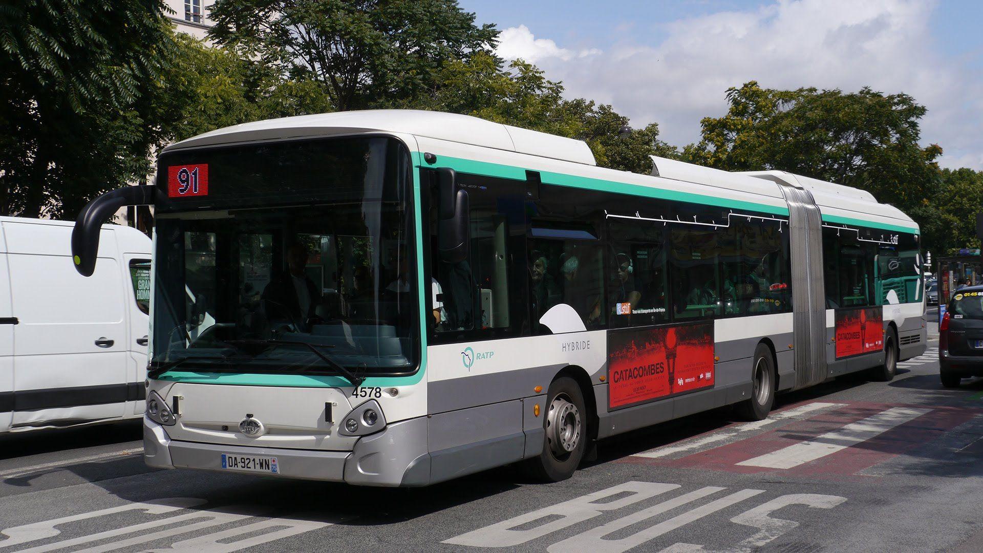 Paris Bus Ratp Heuliez Bus Rt 91 Bastille Gare De Lyon Diderot Bus Gare De Lyon Paris