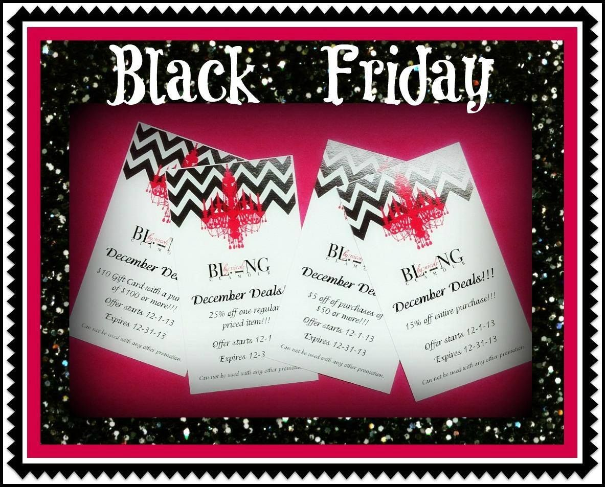 Black friday at bling black friday shopping day event