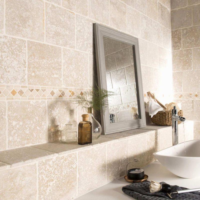 Bain Carrelage Castorama Salle Sol 201 Carrelage De Sol Salle De Bain Castorama 2019 In 2020 Travertine Bathroom Bathroom Tile Bathroom