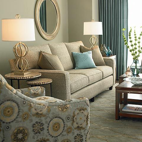 Hgtv Home Custom Upholstery Medium Sofa Bassettfurniture Hgtv