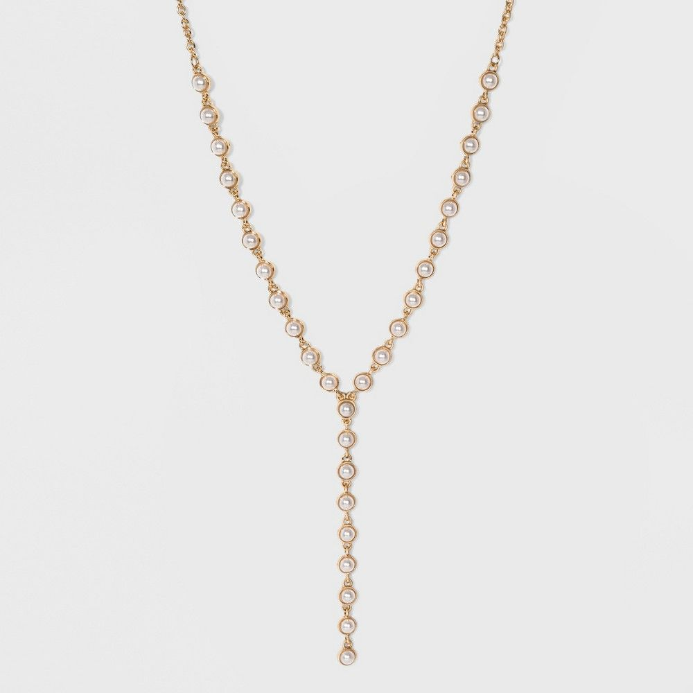 722a7acbc Faux Pearls Y Necklace - A New Day™ Gold in 2019 | Products | Gold ...
