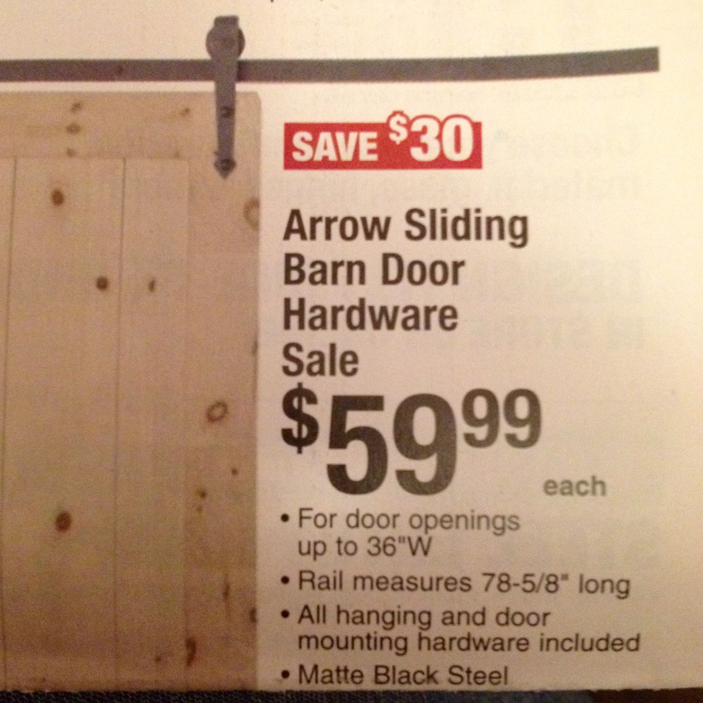 Menards 6am Black Friday DIY Barn Doors Pinterest