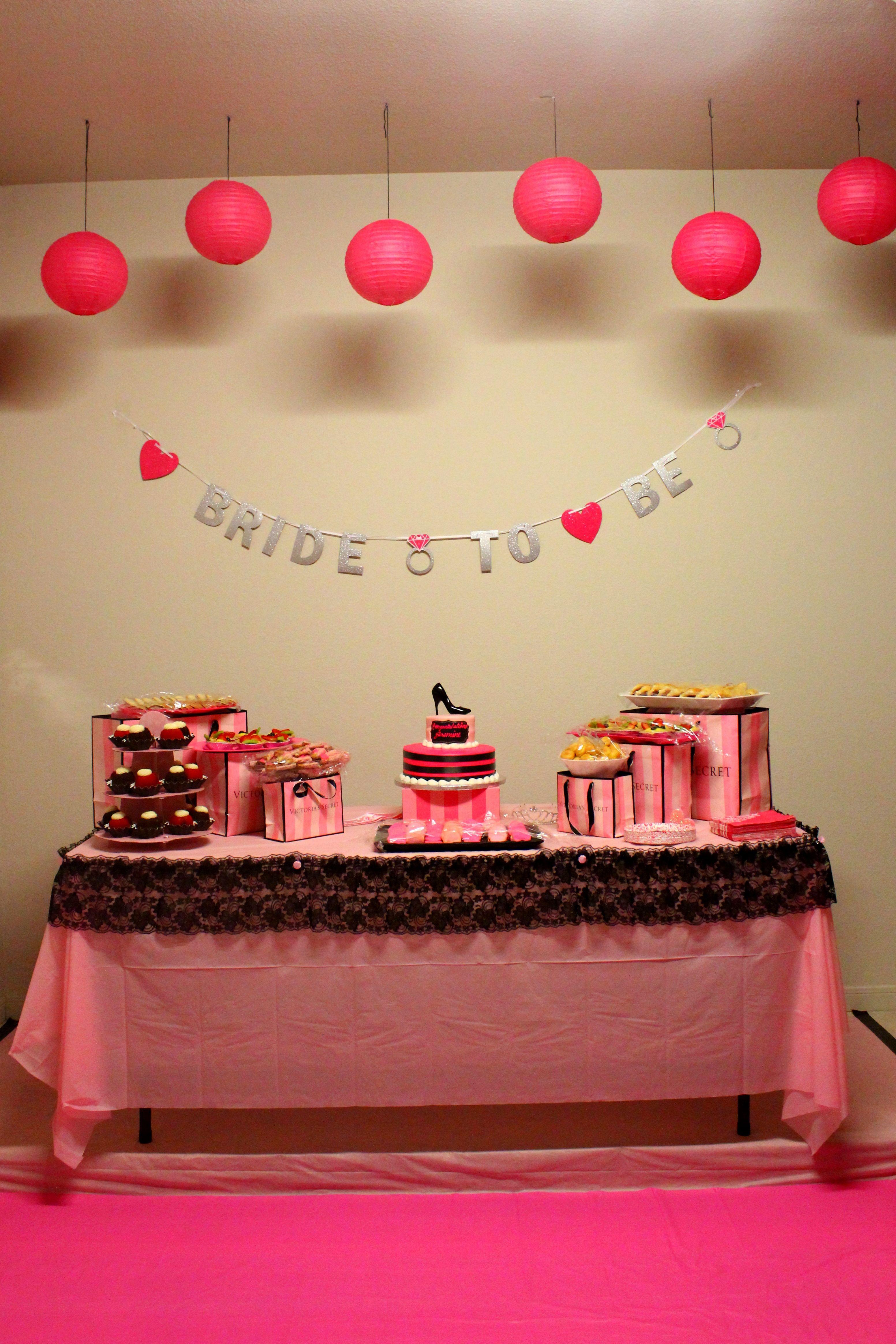 victoria secret themed bridal shower check lingerie party decorations bachelorette party decorations