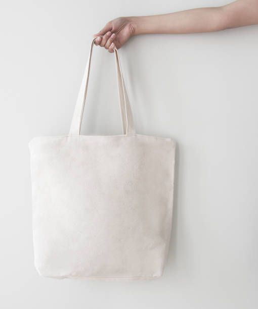 Download Blank Canvas Tote Bag Design Mockup With Hand Handmade Shopping Bags