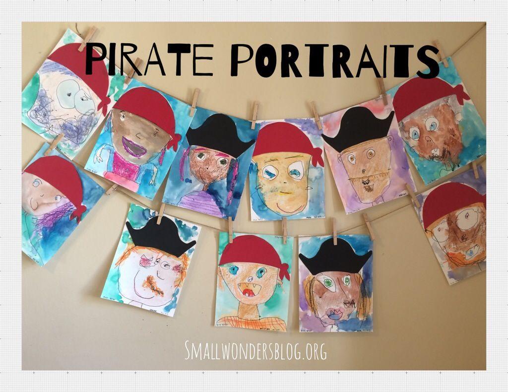 Pirate Portrait Preschool Art For Pirate And Ocean Theme