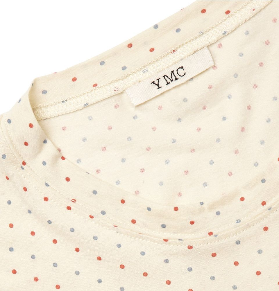 YMC Dot-Print Cotton T-Shirt | MR PORTER