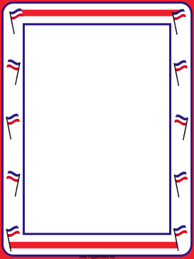 This Free Printable Border Features Festive Patriotic Borders With Red White And Blue Stripes Free To Italy Party Italy Party Theme Italian Themed Parties