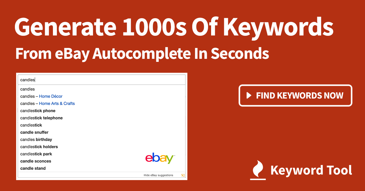 Best 1 Free Ebay Keyword Tool For Ebay Listings Seo Keyword Research Generate 1 000s Of Keywords For Ebay Product Li Keyword Tool Ebay Selling Tips Seo