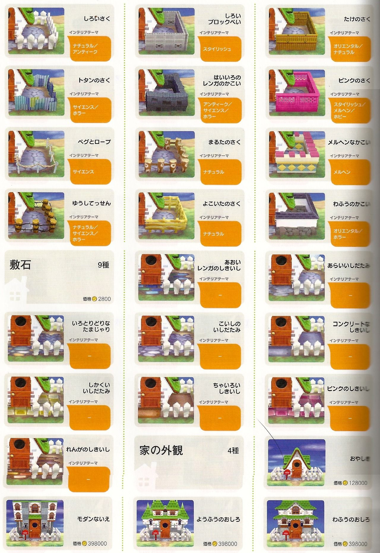 Fences Cont Paving Stones House Styles Various Exterior Themes Source Comfort Crossing Animal Crossing Acnl Animal Crossing Guide