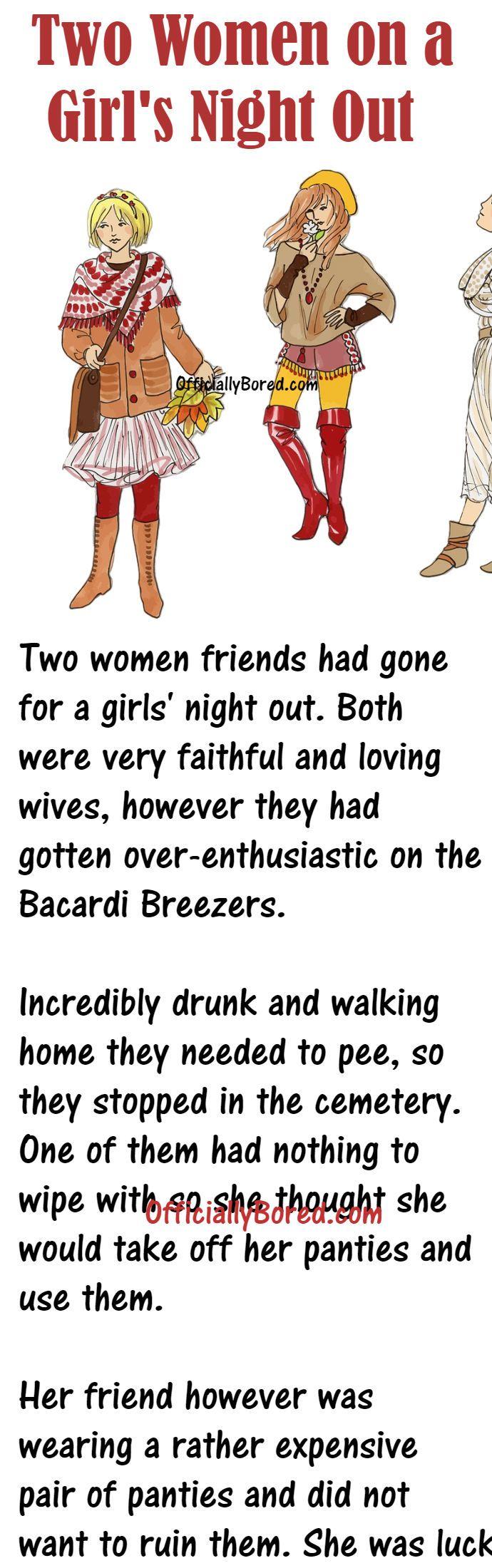 When Two Women Were Having Fun On Girl S Night Out In 2020 Girls Night Out Girls Night Night Out