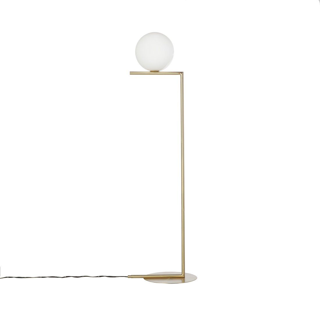 Small Arc Floor Lamp Modern Brass Ball Floor Lamp Small Home Interior Details