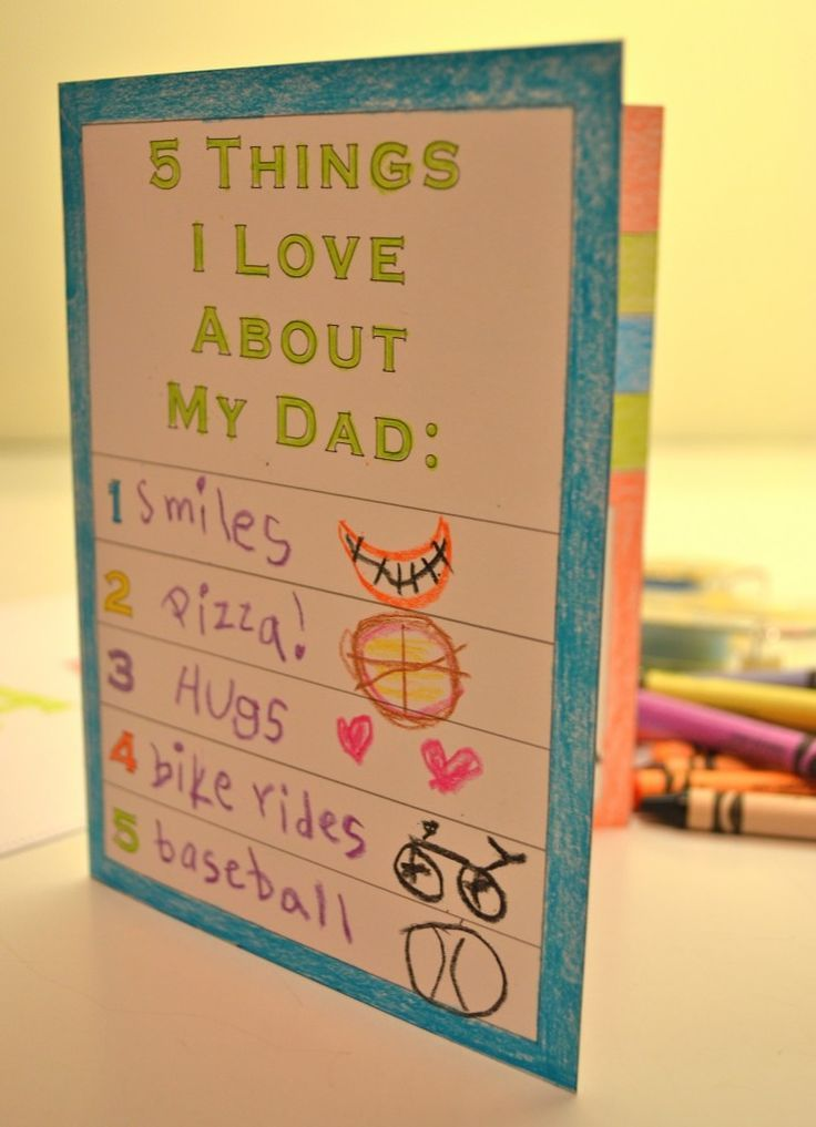 Printable Father S Day Card For Kids Fathers Day Crafts Father S Day Diy Father S Day Activities