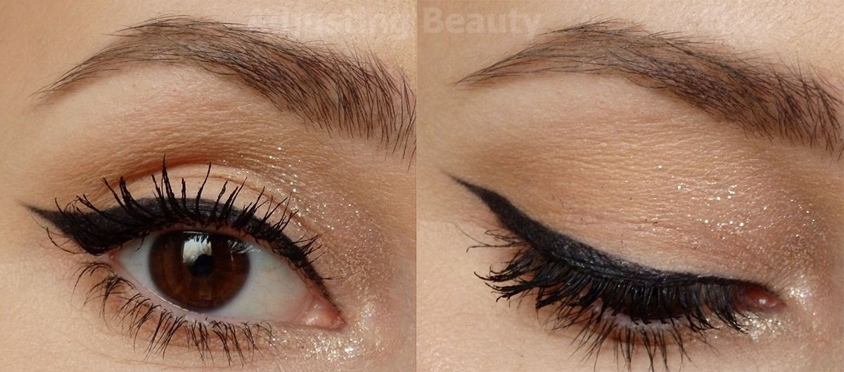 Review Maybelline Eyestudio Lasting Drama Gel Eyeliner Black Sparkly Eyeshadow Green Eyeliner Maybelline Eye Studio