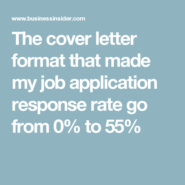 the cover letter format that made my job application