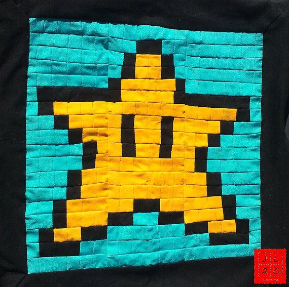 8 Bit Mario Invincibility Star Pixel Pillow by JLSquaredCreations ...