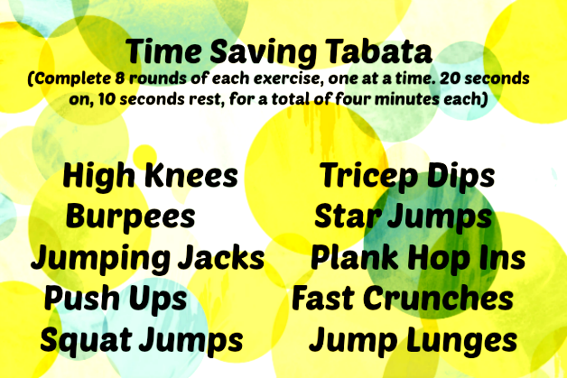Time Saving Tabata: a quick and efficient hotel room workout routine for travelers on the GO!