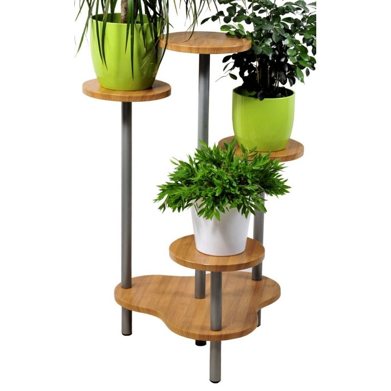 support multiple pour 4 plantes hauteur 75 cm fa on bambou products i love pinterest. Black Bedroom Furniture Sets. Home Design Ideas