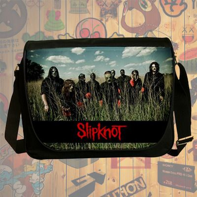 NEW HOT!!! Slipknot Messenger Bag, Laptop Bag, School Bag, Sling Bag for Gifts & Fans #04