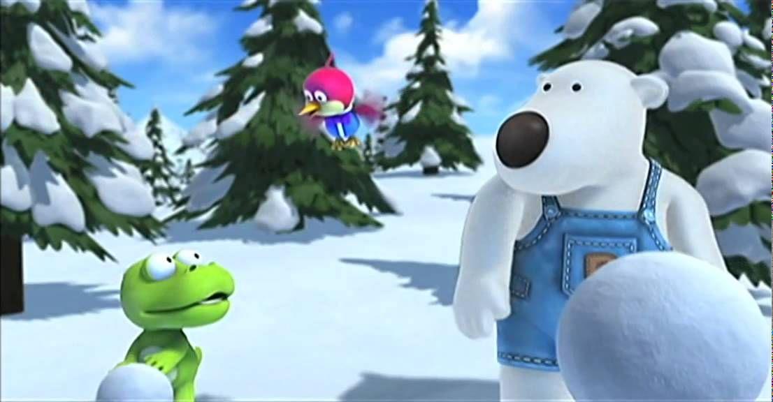 Pororo & zijn vriendjes, Aflevering 'De grootste sneeuwpop'.
