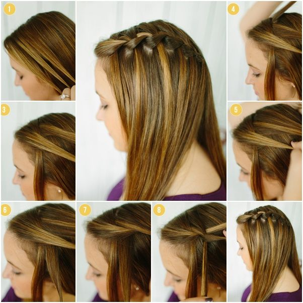 Waterfall braid in the back to the side down hair styles i want to waterfall braid in the back to the side down ccuart Images