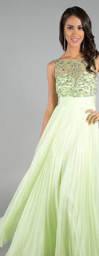 Sexy Sage Sleeveless A-Line Natural Prom Dresses klkdresses33301vbf  #longdress #promdress