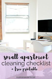 Small Apartment Cleaning Checklist | Apartment cleaning, Cleaning ...