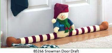 Patas largas para la puerta muñeco de nieve en paño lency