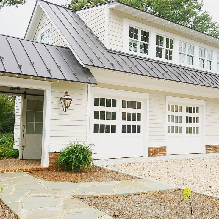Stunning Garage Design...those Doors! And It's On A Corner