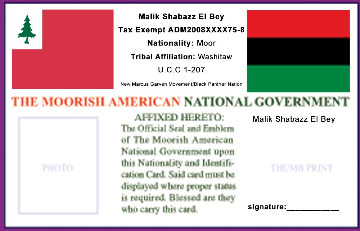 Moors ID Card   Ghetto Vader   Panther nation, Thumb prints