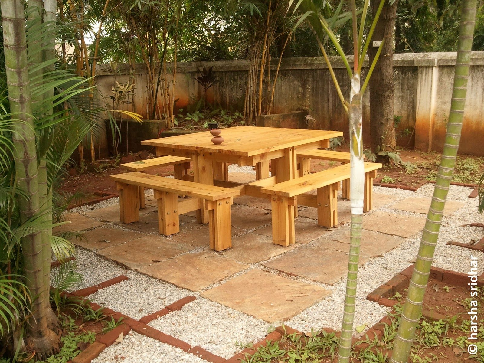 Marvelous From Used Packaging Wood To A Picnic Table