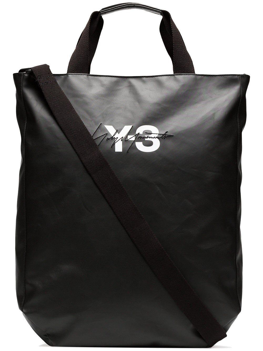 c43da6b1 Y-3 black logo tote bag   _BORGS in 2019   Bags, Tote Bag, Reusable ...