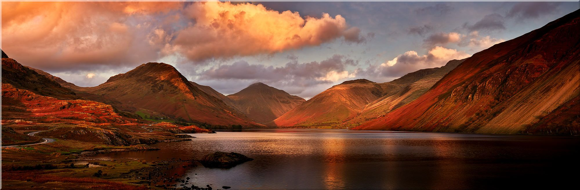 Dusk At Wast Water Canvas Print Lake District England Lake District Scenery