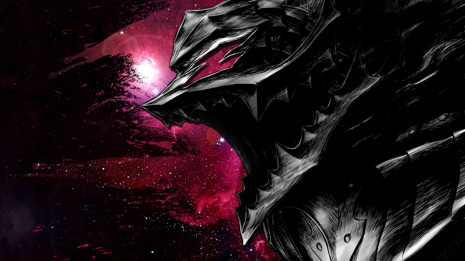 Anime Berserk Armor Wallpaper wweo Manga watercolor